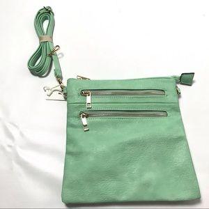 Women Crossbody Handbag Purse Satchel Green Small